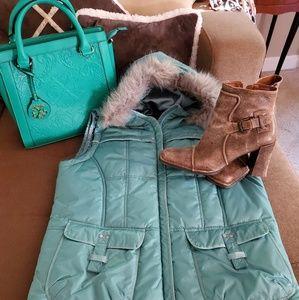 Puffer Vest w/ Faux Fur Hood